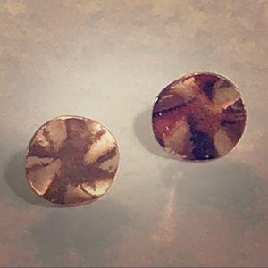 Gorjana rose gold Chloe hammered earrings studs